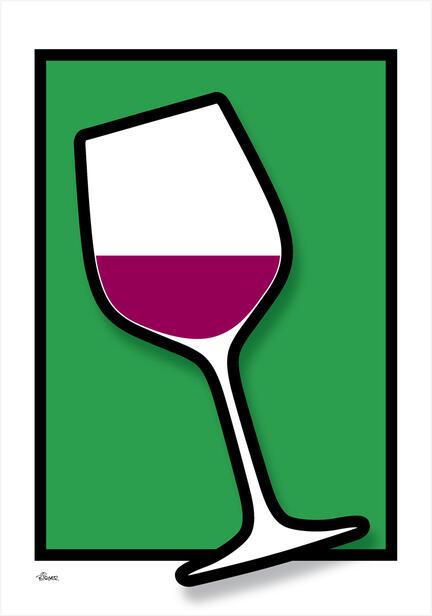 Wine vin glass glas colour Poster plakat ©Birger www.artprintandmore.dk