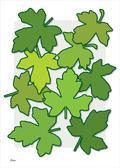 blade leaves colour graphic design poster ©Birger