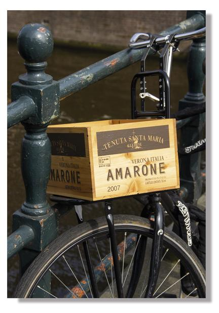 amarone wine crate amsterdam bicycle photo poster plakat webshop