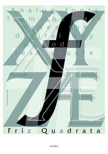 Poster tribute type font skrift art Friz Quadrata Klausen Design danish poster shop