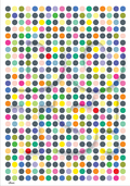 Mix colour dots illustration graphic art poster plakat ©Birger danish design
