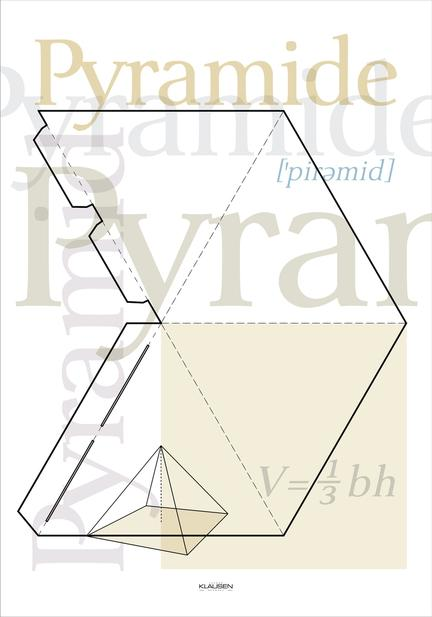 Pyramide artwork and typographic poster webshop