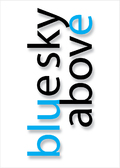 blue sky above quote Klausen design type typo art poster plakat art work webshop sale
