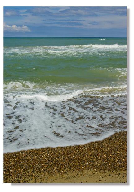 photo poster plakat webshop beach denmark jammerbugten blue green sea