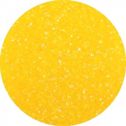 farvet krystal sukker gul