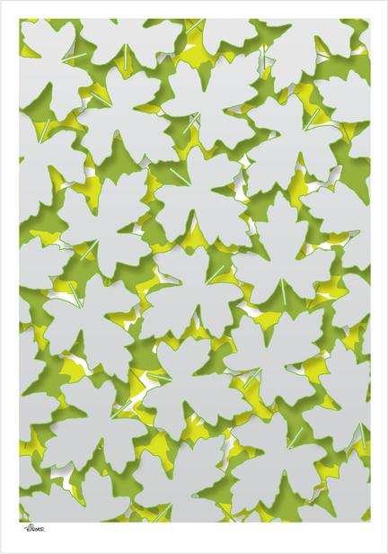 leaf forest leaves colour danish Poster plakat ©Birger Bromann www.artprintandmore.dk