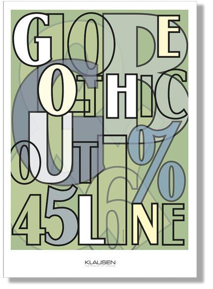collage globe gothic font Klausen design typoart poster plakat art work webshop