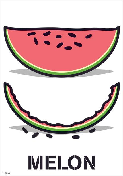 Melon poster vector illustration one of many