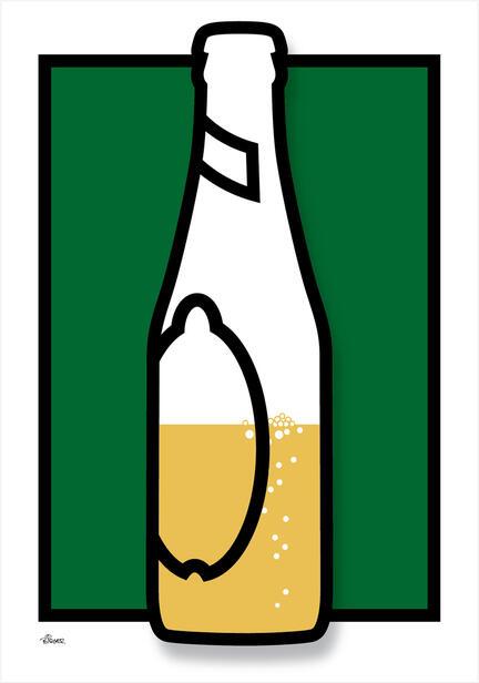 Beer bottle flaske colour Poster plakat ©Birger www.artprintandmore.dk
