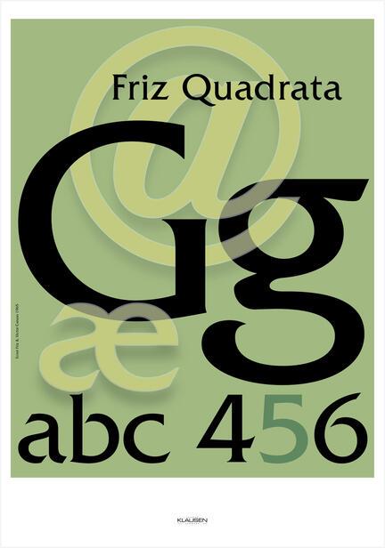 Poster type art Friz Quadrata Klausen Design