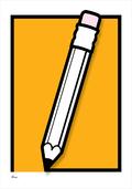 Pencil drawing graphic colour Poster plakat ©Birger www.artprintandmore.dk