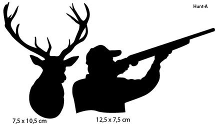 Sportsign hunter deer auto deko sticker silhouet