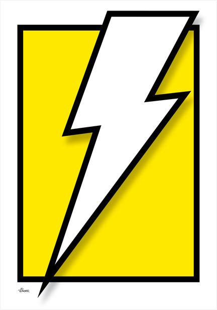 flash zap lightning lyn torden graphic colour Poster plakat ©Birger www.artprintandmore.dk