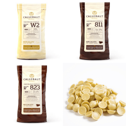 Sæt tilbud Callebaut Chokolade hvid, mørk, lys
