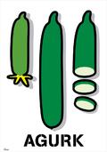 agurk vektor design poster illustration ©Birger Bromann