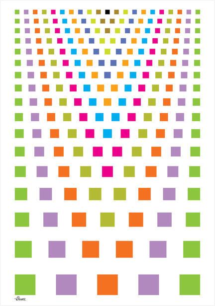 kvadrater squares colour farve poster ©Birger design #posterprint