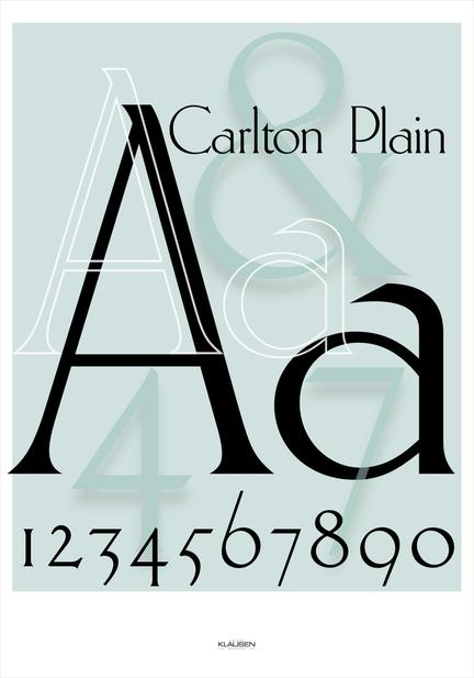 Carlton type art poster Herman Klausen Denmark many sizes