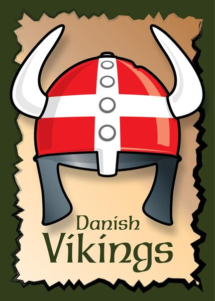 Vikings poster graphic danish design art print plakat helmet © Birger Bromann