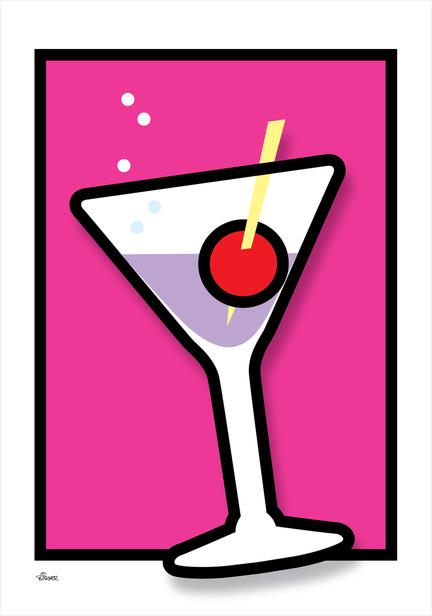 Cocktail glass glas colour Poster plakat ©Birger www.artprintandmore.dk